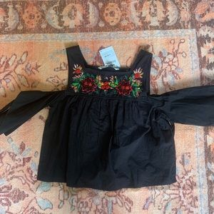 NWTS Zara beaded crop top size small